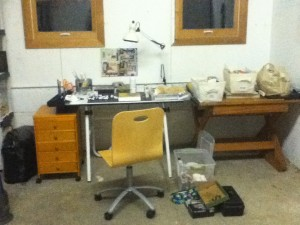 Not glamorous, but it's a space where I can spread out and get messy!