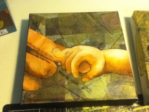 This one is not done yet, but I just love the feeling of those little fingers curled around mine. <3