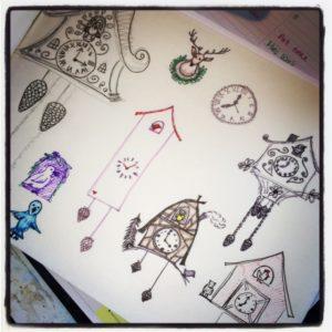 Jordan Kim cuckoo clock doodles