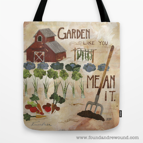 Jordan Kim Garden Like You Mean It tote bag foundandrewound Society6
