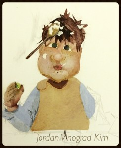 Jordan Kim gingerbread boy in progress