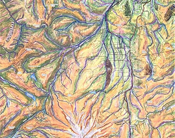 Hood River Valley Topo Map