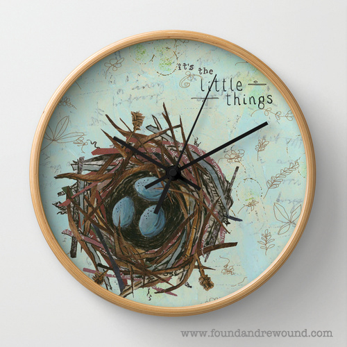 Jordan Kim foundandrewound wall clock Society6 It's teh Little Things