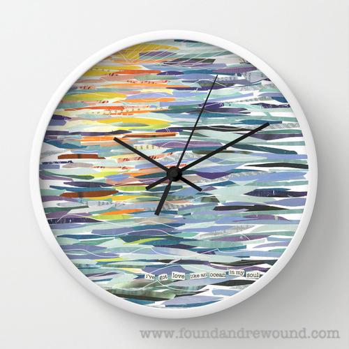 Jordan Kim Love Like The Ocean wall clock