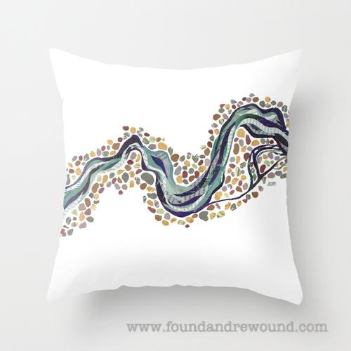 Jordan Kim Meander- Simple throw pillow