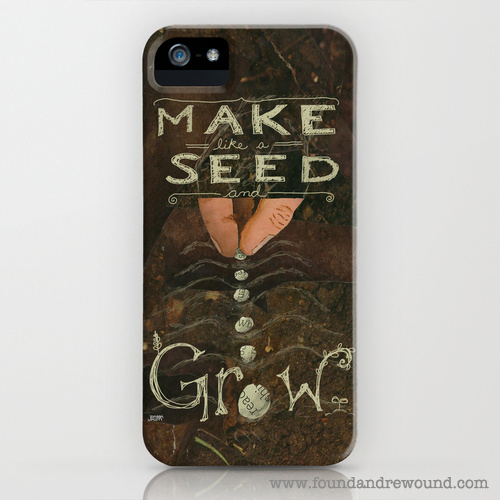 Jordan Kim foundandrewound sowing seeds iPhone cover skin Society6