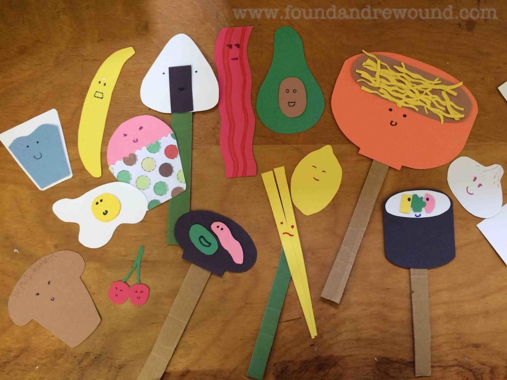 Kid Food Puppet Craft