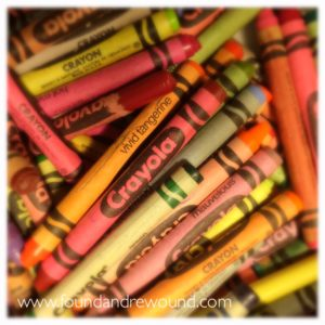 school supplies crayons
