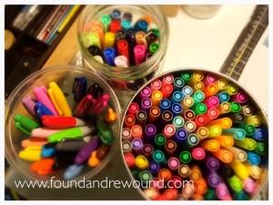 school supplies markers