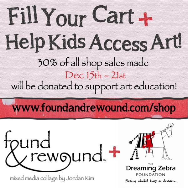 Dreaming Zebra Foundation, art education, shop to support, kids access art, art education