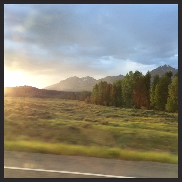 sunset in the Sawtooth Mountains